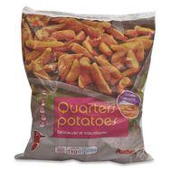 Auchan quarters potatoes 1kg