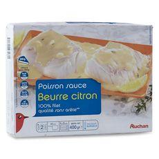 Auchan poisson sauce beurre citron 400g