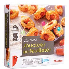 AUCHAN Auchan Mini saucisses en feuilletés 350g 20 pièces 350g