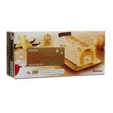 AUCHAN Bûche glacée au caramel vanille saveur crème brûlée 8-10 parts 534g