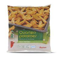 Auchan quarters potatoes aux herbes 700g