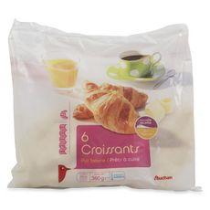 AUCHAN Croissant pur beurre 6 pièces 360g