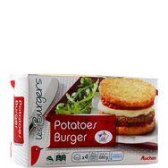 Auchan potatoes burger x4 -680g