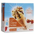 Auchan cône crème brûlée x6 -420g