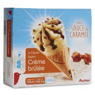 Auchan cône crème brûlée x6 -422,4g