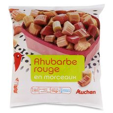 AUCHAN Rhubarbe rouge 1kg