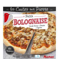 AUCHAN Pizza cuite sur pierre à la bolognaise 390g
