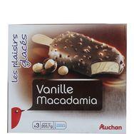 Auchan grand gourmand vanille macadamia x3 -203g