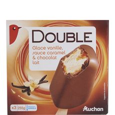 Auchan bâtonnet chocolat caramel x3 -254g