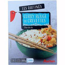 AUCHAN Curry rouge de crevettes 1 portion 300g