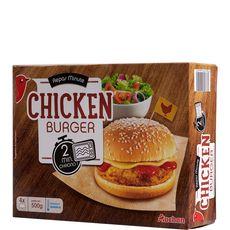 AUCHAN Chicken burger 4 pièces 400g