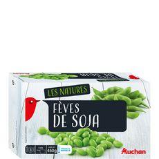AUCHAN Fèves de soja 3 portions 450g