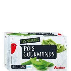 AUCHAN Pois gourmands 3 portions 450g