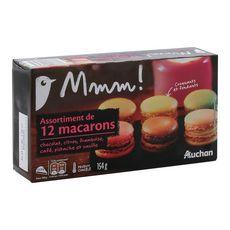 AUCHAN MMM! Assortiment de macarons 12 pièces 154g