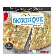 AUCHAN Pizza nordique 350g