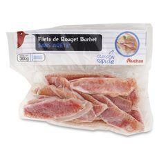 AUCHAN Filet de rouget barbet sans arête 300g