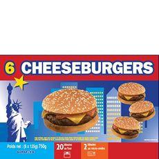 AUCHAN Cheeseburger 6 pièces 750g
