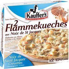 KAUFFER'S Kauffer's Flammekueches aux Noix de St Jacques et crevettes 2 pièces 500g