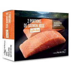 Saumon sauvage du Pacifique sans peau sans arêtes 2 pièces 250g