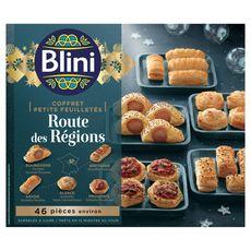 BLINI Blini Coffret de petits feuilletés route des régions 485g 46 pièces 46 pièces environ 485g