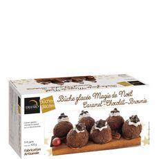 ERHARD Bûche glacée Magie de Noël caramel chocolat et brownie 5-6 parts 420g