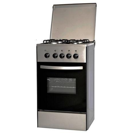 DOMAN Cuisinière à gaz DE550GX, 50 cm, 4 foyers à gaz, Four à convection naturelle