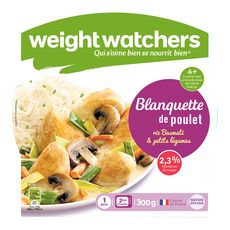Weight Watchers blanquette poulet riz légumes 300g