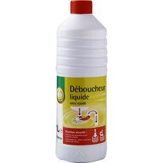 POUCE Déboucheur liquide pour canalisations avec soude 1l