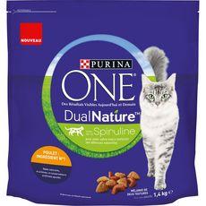 PURINA One dual nature croquettes poulet pour chat 1,4kg
