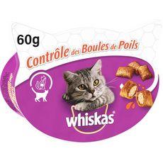 WHISKAS Barquette friandises contrôle des boules de poils pour chat 60g