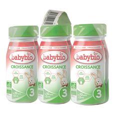 BABYBIO Babybio lait de croissance bio de 10 mois à 3 ans 6x25cl