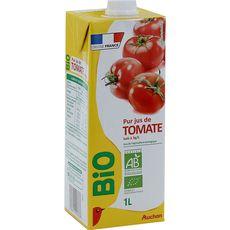 Auchan bio jus de tomate brique 1l