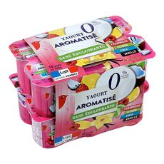 Auchan yaourt aromatisé 0% 12x125g