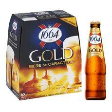 1664 gold bière blonde 6,1° -6x25cl