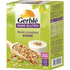 GERBLE Muesli de céréales croustillant avoine sans gluten 375g