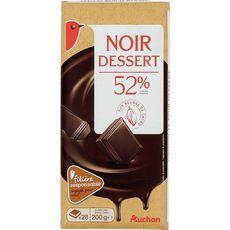 Auchan chocolat noir dessert 200g