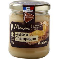 AUCHAN MMM! Miel de fleurs de Champagne, crémeux et légèrement fruité 250g