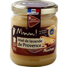 AUCHAN MMM! Miel crémeux de lavande de Provence, onctueux et fruité 250g