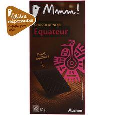 Mmm! chocolat noir origine Equateur 80g