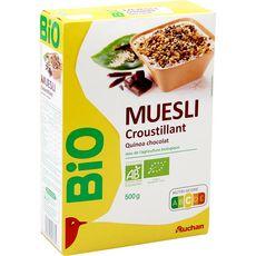 Auchan bio müesli croustillant quinoa chocolat 500g