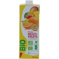 Auchan bio pur jus multifruits brique 1l