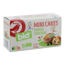 Auchan bio mini cakes pépites chocolat x5 - 175g