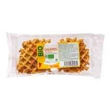 AUCHAN BIO Auchan Bio Gaufres pur beurre 6 gaufres 120g 6 gaufres 120g