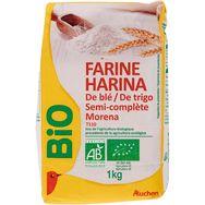 Auchan bio farine de blé semi-complète 1kg