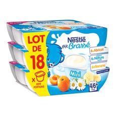 NESTLE Nestlé ptit brassé nature abricot banane 18x60g dès 4/6mois
