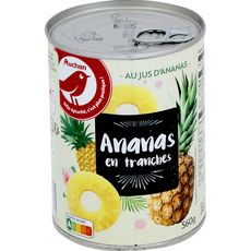 Auchan ananas en tranches 340g