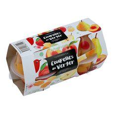 Auchan cocktail de fruits du verger en coupelles x4 -260g