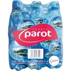 PAROT Eau minérale naturelle gazeuse bouteilles 6x50cl