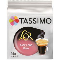 TASSIMO Café long doux L'Or en dosette 16 dosettes 89g