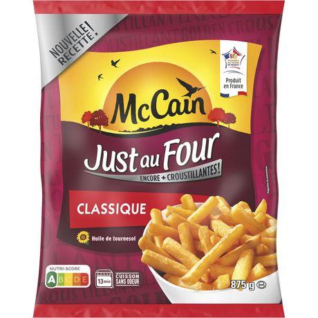 frites just au four classique mc cain 875g